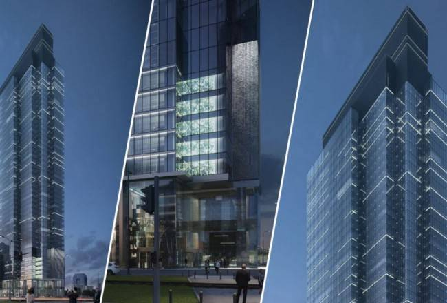 """""""Warsaw UNIT"""" 180 Meter Building Located in Warsaw"""